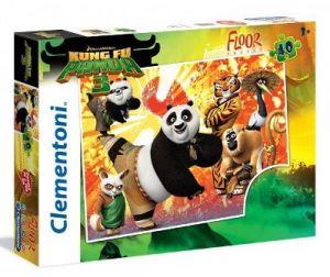 Podlahové puzzle Clementoni 40  dílků MEGA  - Kung Fu Panda 25448