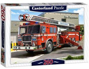 Puzzle Castorland 260 dílků - Hasičské  auto  27040