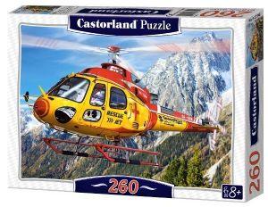 Puzzle Castorland 260 dílků -  Záchranářský vrtulník  27248