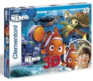 Puzzle Clementoni 104 dílků  3D - Nemo 20070