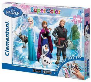 Puzzle Clementoni - 104 dílkú  s aplikací -  Frozen  20702