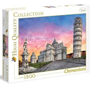 Puzzle Clementoni 1500 dílků  - Šikmá věž v Pize  31674