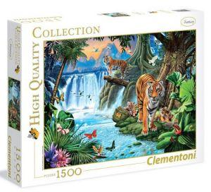 Puzzle Clementoni 1500 dílků  - Tygří rodinka 31636
