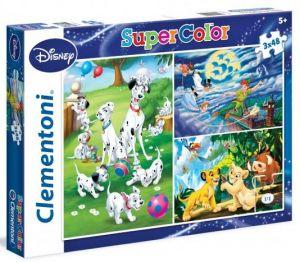 Puzzle Clementoni  - 3 x 48 dílků  - Disney Classic 25212