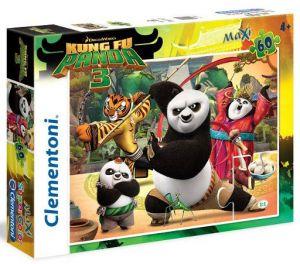 Puzzle Clementoni 60 dílků MAXI   -  Kung Fu Panda  26580