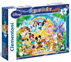 Puzzle Clementoni MAXI - 24 dílků - Disney Family 24473
