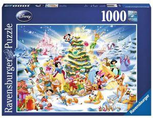 Puzzle Ravensburger 1000 dílků - Disney Vánoce  192878