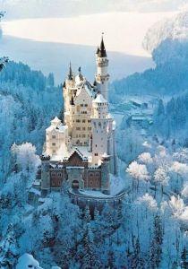 Puzzle Ravensburger 1500 dílků - Zámek Neuschwanstein v zimě 162192