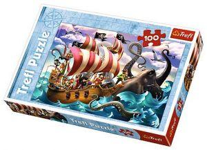 Puzzle Trefl 100 dílků - Piráti   16278