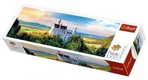 Puzzle TREFL  1000 dílků - panorama - Neuschwanstein  29028