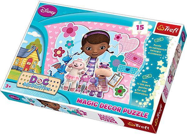 Puzzle TREFL 15 dílků MAXI Magic Decor - Doktorka Plyšáková 14601