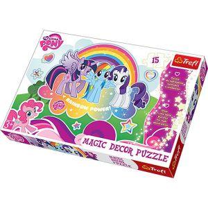 Puzzle TREFL 15 dílků MAXI  Magic Decor -  My Little Pony 14605