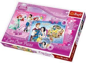 Puzzle Trefl 2x50 dílků Lumi Color - Ariel a Sněhurka   16500