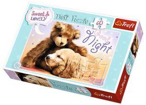 Puzzle Trefl 60 dílků  - Sweet&Lovely - Dobrou noc  17270