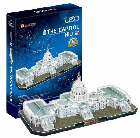 3 D Puzzle CubicFun - Capitol 105 d. LED - svítící 20511 Cubic Fun