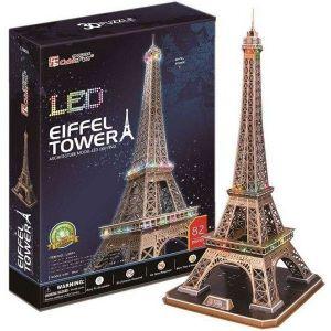 3 D Puzzle CubicFun - Eiffelova věž   82 d. LED  - svítící  20507
