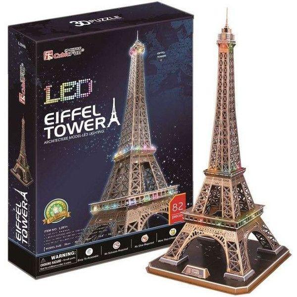 3 D Puzzle CubicFun - Eiffelova věž 82 d. LED - svítící 20507 Cubic Fun