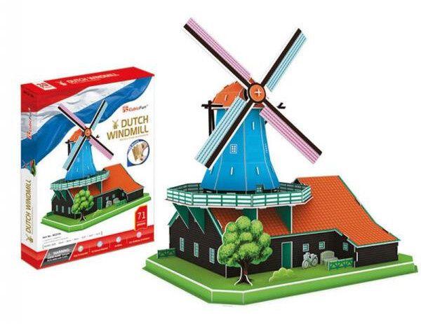 3 D Puzzle CubicFun - Holandský větrný mlýn XL 71 dílků 20219 Cubic Fun