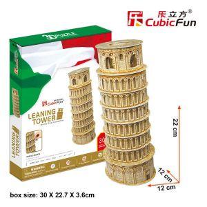 3 D Puzzle CubicFun - Šikmá věž v Pise  38 d. 21053