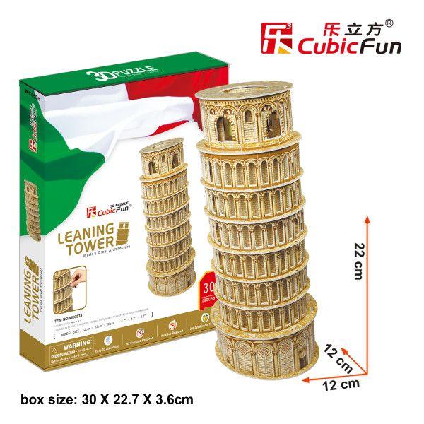 3 D Puzzle CubicFun - Šikmá věž v Pise 38 d. 21053 Cubic Fun