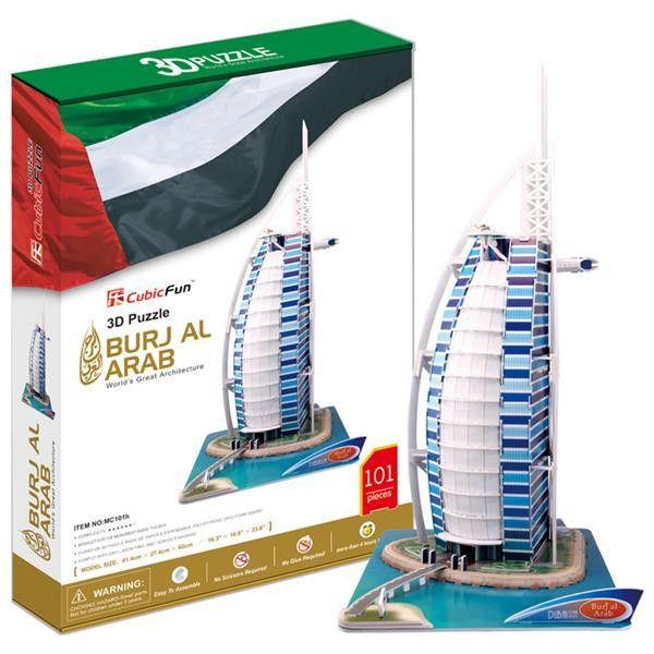 3 D puzzlePuzzle CubicFun - Burj Al Arab 101 dílků 20101 Cubic Fun