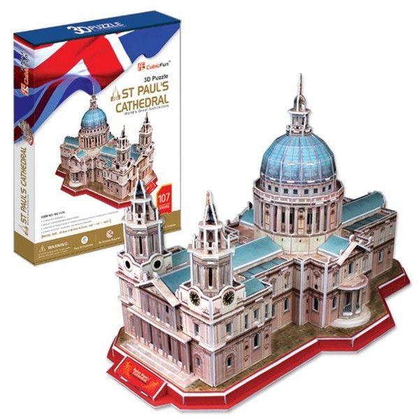 3 D PuzzlePuzzle CubicFun - Katedrála Sv. Pavla 107 dílků 20117 Cubic Fun