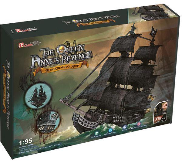 3 D PuzzlePuzzle CubicFun - Pirátská loď pomsta královny Anny 308 dílků 24018 Cubic Fun