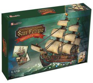3 D PuzzlePuzzle  CubicFun -  Plachetnice San Felipe  248 dílků   24017