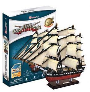 3 D PuzzlePuzzle  CubicFun -  Plachetnice USS Constitution  193  dílků   24024