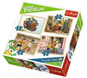 35, 48, 54 a 70  dílků -  4v1  Rodina Treflíků  - příhody   puzzle   Trefl  34271