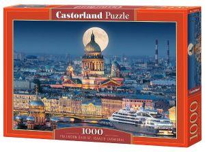 Castorland  puzzle  1000 dílků Úplněk nad katedrálou sv.Izáka 103447