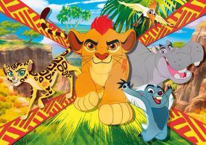 CLEMENTONI Dětské MAXI puzzle  104 dílků  Lví hlídka  23978