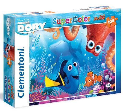 CLEMENTONI Dětské MAXI puzzle Nemo - Finding Dory 104 dílků 23976