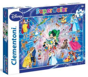 Clementoni Puzzle 104 dílků - Disney rodina  27954