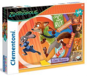 Clementoni Puzzle 104 dílků - Zootropolis  27968