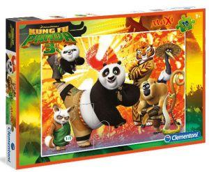 Podlahové puzzle Clementoni 30  dílků MAXI  - Kung Fu Panda  07431