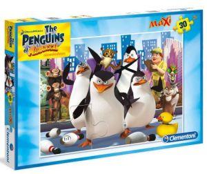 Podlahové puzzle Clementoni 30  dílků MAXI  - Tučňáci z Madagaskaru   07430