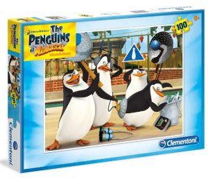 Puzzle Clementoni 100 dílků  - Tučňáci z Madagaskaru  - 07254