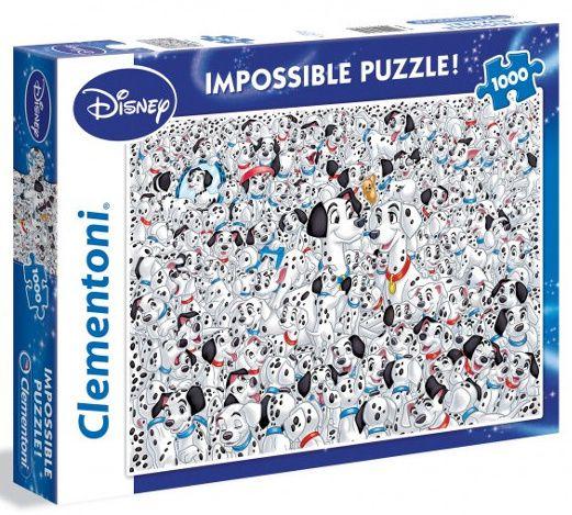 Puzzle Clementoni 1000 dílků - Nekoneční Dalmatíni 39358