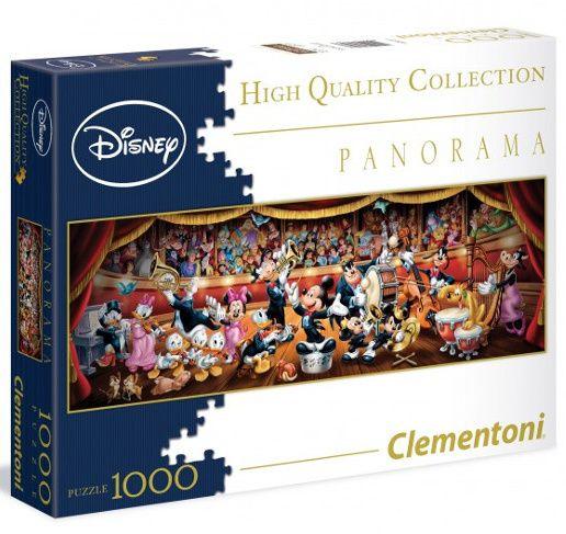 Puzzle Clementoni 1000 dílků panorama - Disney classic 39347
