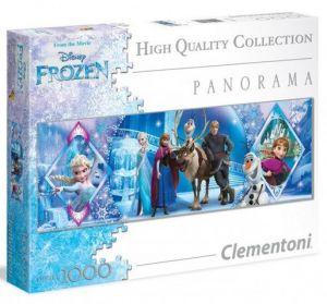 Puzzle Clementoni 1000 dílků  panorama - Frozen - Ledové království     39349