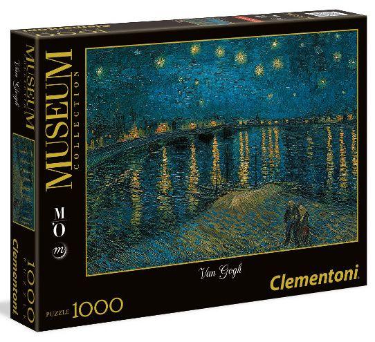 Puzzle Clementoni 1000 dílků - Van Gogh - Hvězdná noc nad Rhônou 39344