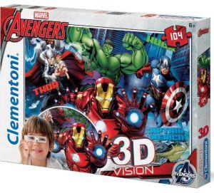Puzzle Clementoni 104 dílků  3D - Avengers  20606