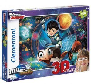 Puzzle Clementoni 104 dílků  3D - Miles from tomorrow  20135