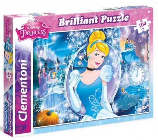 Puzzle Clementoni - 104 dílků Briliant - Popelka 20132