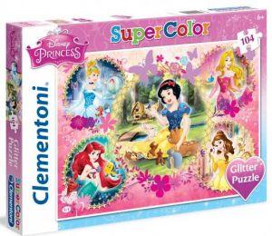 Puzzle Clementoni  - 104 dílků  Glitter  - Princezny  20134