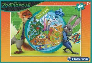Puzzle Clementoni 180 dílků  - Zootropolis   07337
