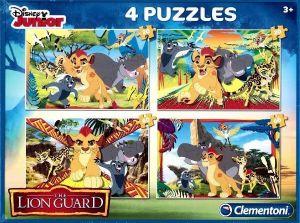 Puzzle Clementoni 2 x 20  a  2 x 60 dílků   Lví hlídka   07608