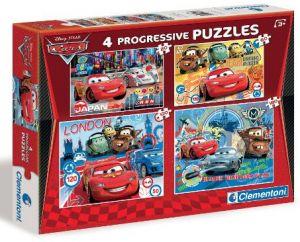 Puzzle Clementoni  - 20, 60, 100 a 180 dílků  -  CARS 2    07703