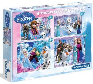 Puzzle Clementoni  - 20, 60, 100 a 180 dílků  -  Frozen    07709